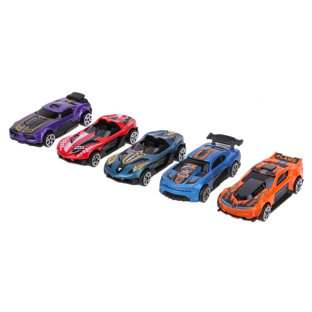 5 unids / set Modelos de Coches de Carreras Juguete Del Coche Del - Vehículos de juguete para niños - foto 2