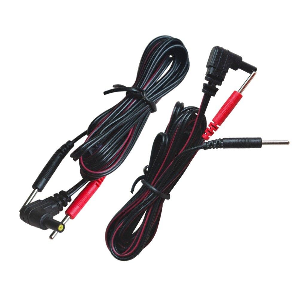 10 teile/paket Ersatz Elektrode Blei Drähte Verbinden Kabel Pin 2mm Für ZEHN 7000 Und ZEHN Elektronische Therapie Massage Maschinen