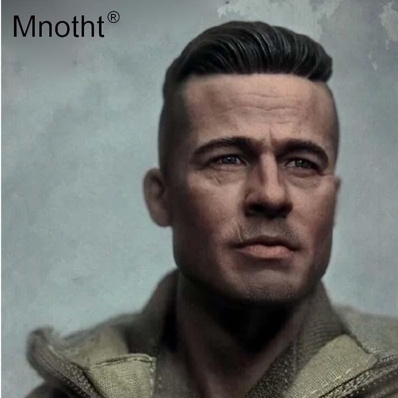 Mnotht 1:6 Scale Fury Brad Pitt Head Sculpt THREEQ MG002
