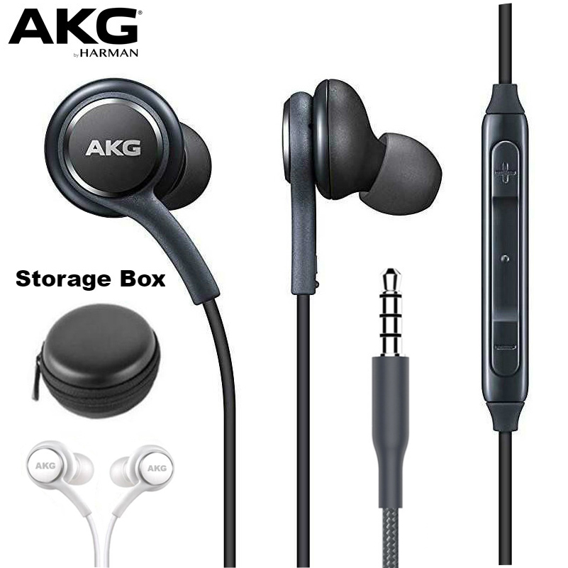 AKG Earphones IG955 3.5mm In-ear With Microphone Wire Headset For SAMSUNG Galaxy S10 S9 S8/S8+ S7 S6 S5 Huawei Xiaomi Smartphone(China)