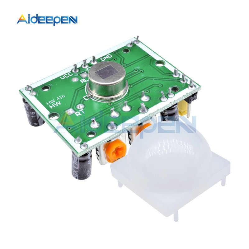 SR501 HC-SR501 Отрегулируйте пироэлектрический инфракрасный датчик модуль PIR датчик движения переключатель модуль детектора для Arduino DIY Kit
