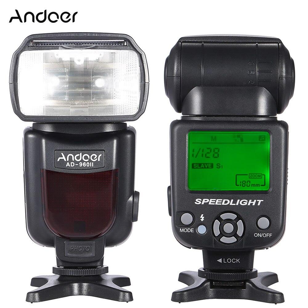 Andoer AD 960II Op camera Flash Speedlite Zaklamp GN54 Universele Lcd scherm Flash voor Nikon Canon Pentax Dslr camera-in Flitsen van Consumentenelektronica op  Groep 1