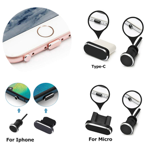 Dust Plus Set For Android Type C Micro For iPhone XR XS X 8 7 6S 5 SE Charging Port Earphone Jack USB For Huawei xiaomi Samsung