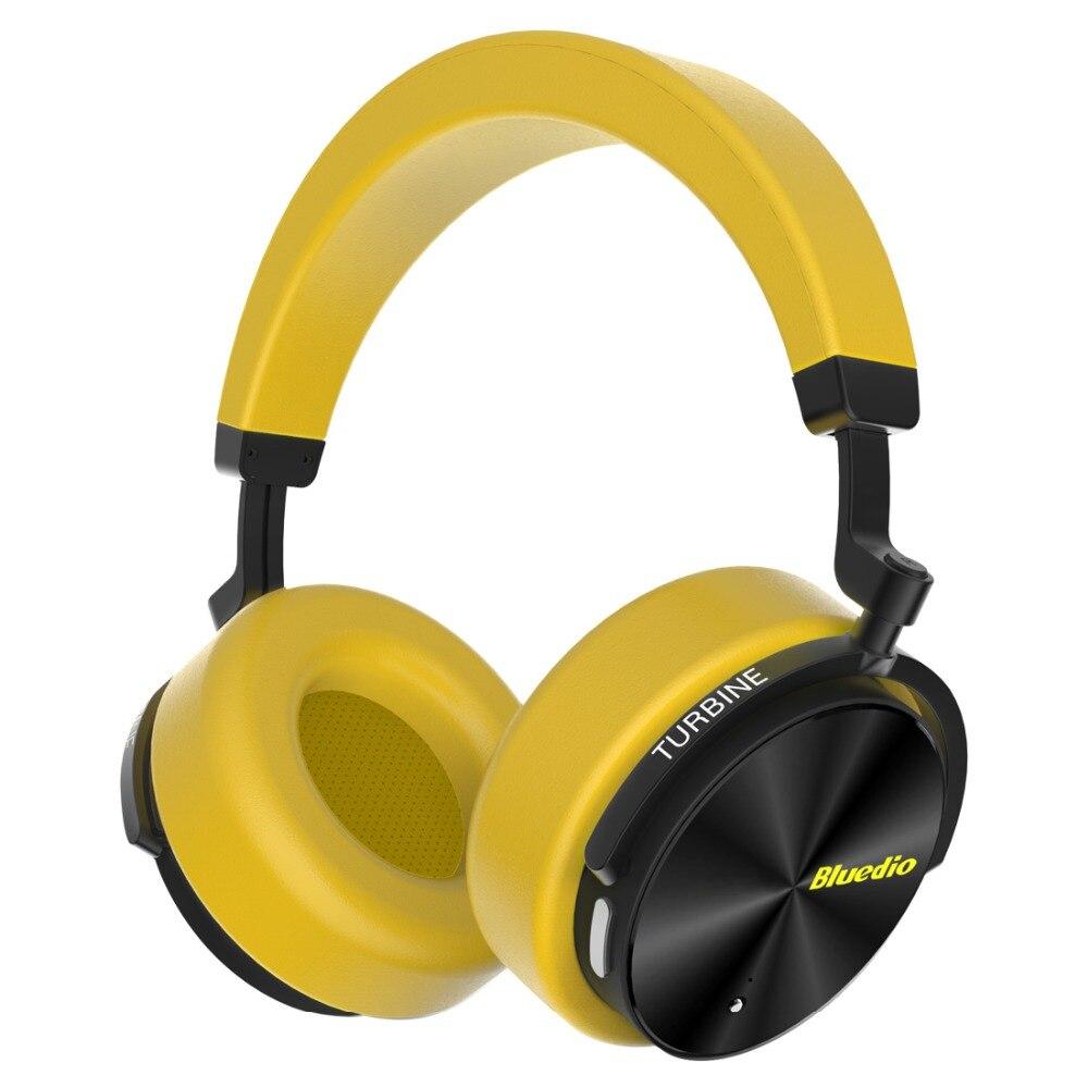 Bluedio T/5 cuffia bluetooth Attiva del Rumore Che Annulla cuffia con microfono per telefoni cellulari e musica del trasduttore auricolare