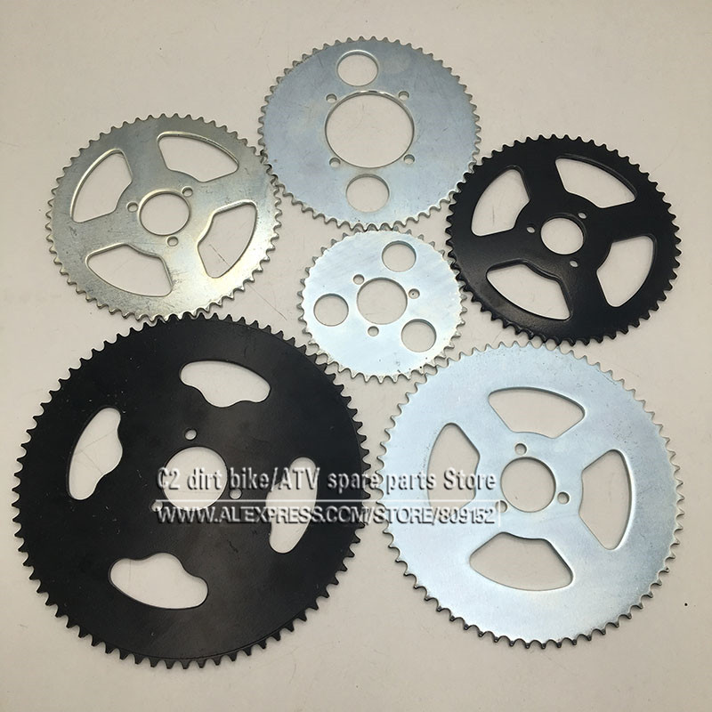 38T 44T 54T 64T 74T T8F 35MM Rear Sprocket Mini Moto ATV Quad Dirt Pit Pocket Bike Cross 47cc 49cc Parts 116 460mm t8f chain links with spare master link for 47cc 49cc 2 stroke dirt pocket mini moto cross bike atv quad go kart