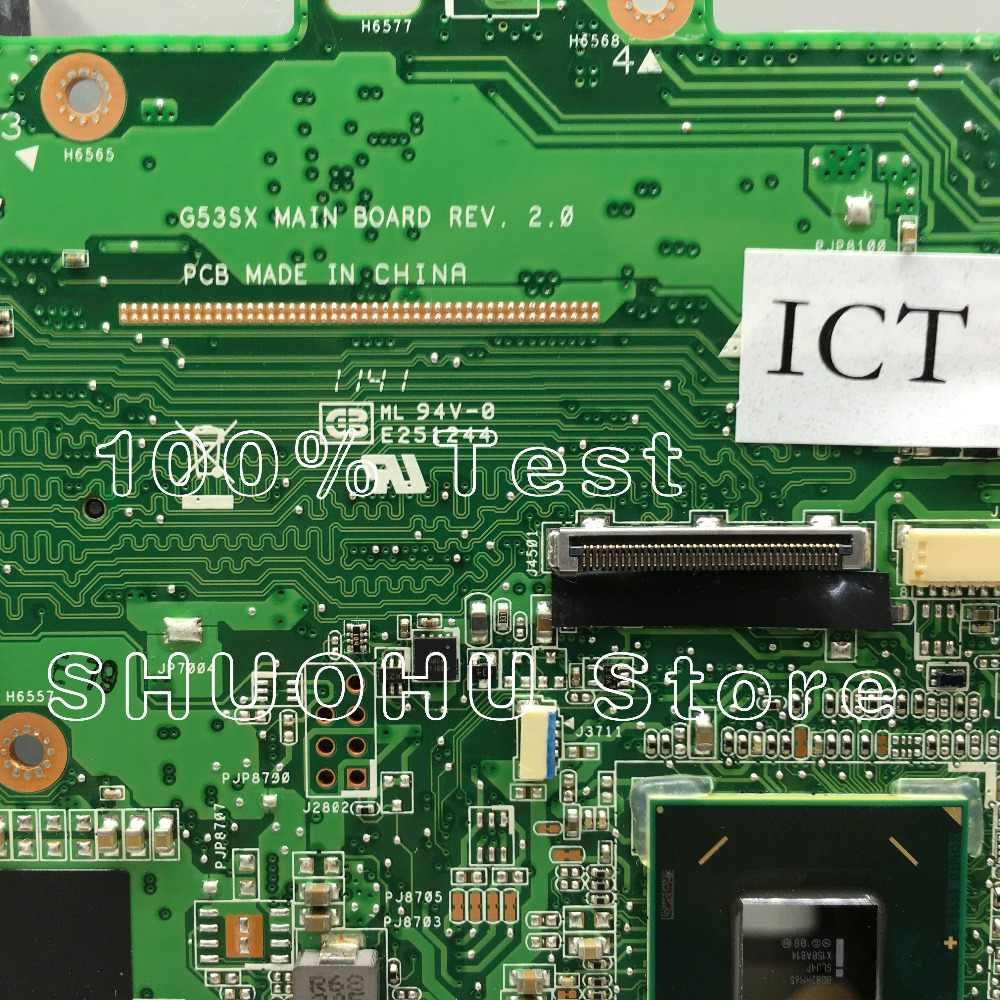 KEFU para ASUS VX7 G53SW G53S G53SX VX7S REV: 2,0 HM65 4 ranuras placa base portátil probada 100% placa base original