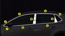 Stainless Steel Window Trim sticker For VW Volkswagen POLO 2014 2015 2016 2017 Car Window frame Trim Sequin car Accessories