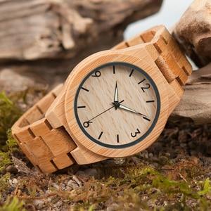 Image 4 - BOBO BIRD reloj de madera para hombre, reloj masculino, de marca superior, de madera, gran regalo, W D27