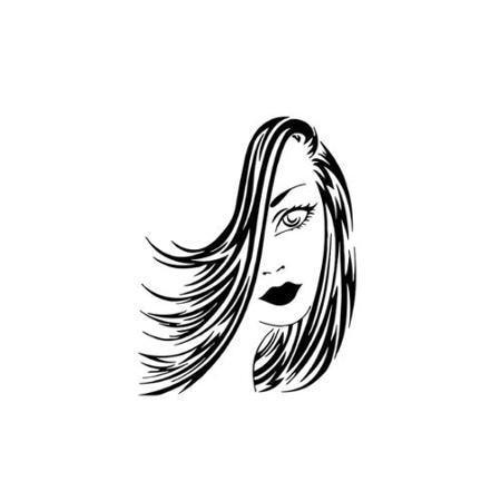 Hair Salon Sexy Girl Vinyl font b Wall b font font b Decal b font Fashion