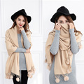 2016 New Scarf For Women Stoles Scarves shawls bufandas ponchos and capes Cashmere Solid Wraps Winter Shawls Soft Chuzzle Wraps