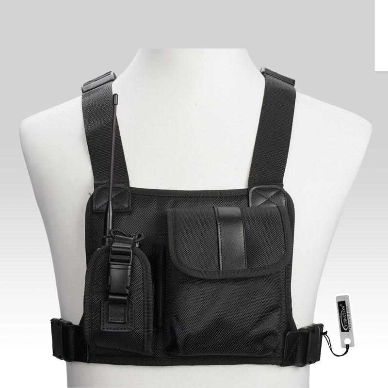 Ambitieus Mode Nylon Vest Borst Rig Tas Verstelbare Borst Pocket Borst Tas Voor Mannen Taille Packs Bag Cross Schoudertassen Harnas Borst
