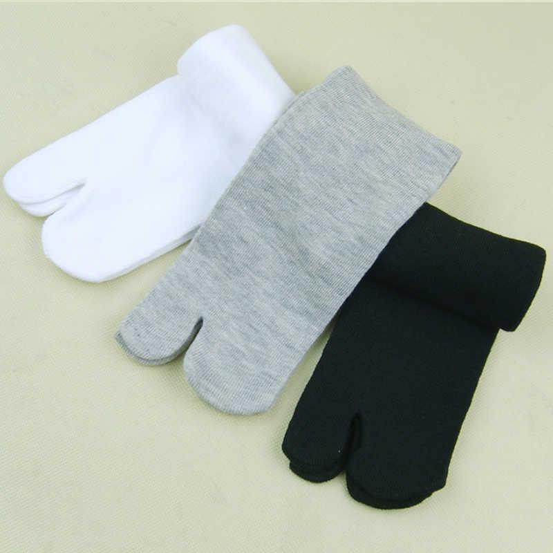 2019 z włókien bambusa mężczyźni i kobiety lato Unisex z dwoma palcami skarpetki japońskie sandały Split ninja Toe skarpetki czarny biały Kimono japonki