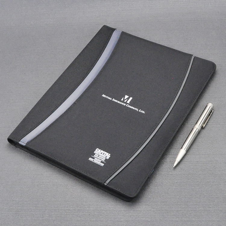 A4 Conference File Folder High-level Canvas Signature Folder For Documents With Writing Pad Combinated Stitched Cover Ab 1265A