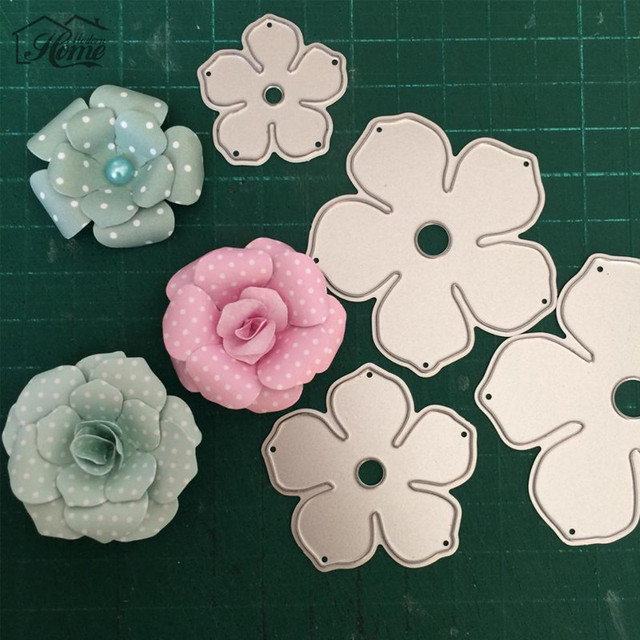 Aliexpress Buy 4pcs Metal Flowers Diy Metal Cutting Dies