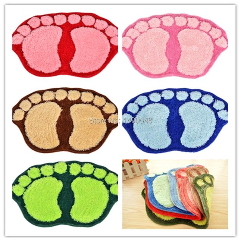 Free Shipping 40cm*60cm Hot Sale New Cute Big Feet Carpet Mets, Bedroom  Bathroom ...