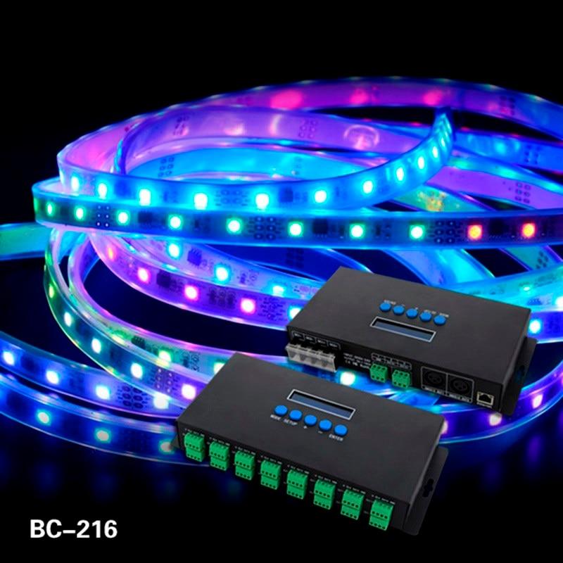 16 canaux Artnet à SPI/DMX WS2811 WS2812B SK6812 2801 8806 Led Pixel contrôleur 340 pixels * 16CH DC5V-24V BC-216 de contrôle