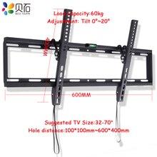 """Evrensel Devirme Plazma LCD LED TV Braketi Ultra HD TV duvar montaj aparatı için Fit 32 """" 70"""" Max Destek 60 KG Ağırlık"""