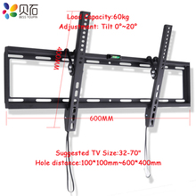 """Support TV universel inclinable Plasma LCD LED Support TV Ultra HD Support mural TV adapté pour 32 """" 70"""" Support Max 60 KG poids"""