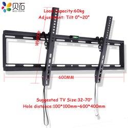 """Uniwersalny nachylenie w osoczu LCD LED TV uchwyt Ultra HD uchwyt ścienny na TV nadające się do 32 """" 70"""" Max obsługuje 60 KG masy w Mocowania TV od Elektronika użytkowa na"""