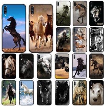 Caballo caso suave para Samsung Galaxy A5 A6 A7 A8 A9 más A10 A20 A30 A40 A50 A60 A70 M40 cubierta