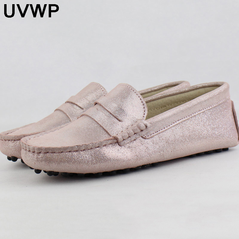 Shoes Women Moccasins Hot-Sale Fashion 100%Genuine-Leather Casual Driving Top-Quality