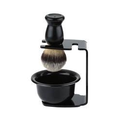 Новинка 3 в 1 чаша для крема для бритья + щетка для бритья + подставка для бритья щетина для волос набор для бритья для мужчин удаление бороды