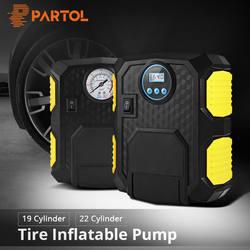 Partol Портативный 12 В в Авто воздушный компрессор шин насос светодио дный светодиодной вспышкой индикатор 19 22 цилиндр 120 Вт 10A 100PSI м 3 м