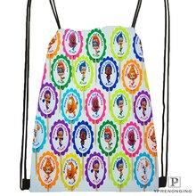 Custom Bubble Guppies @01 Drawstring Backpack Bag Cute Daypack Kids Satchel (Black Back) 31x40cm#180531-02-67