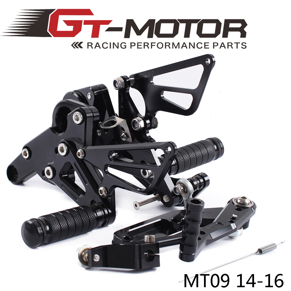 GT Motor Full CNC Aluminum Motorcycle Adjustable Rearsets Rear Sets Foot Pegs For YAMAHA MT 09 2014 2016