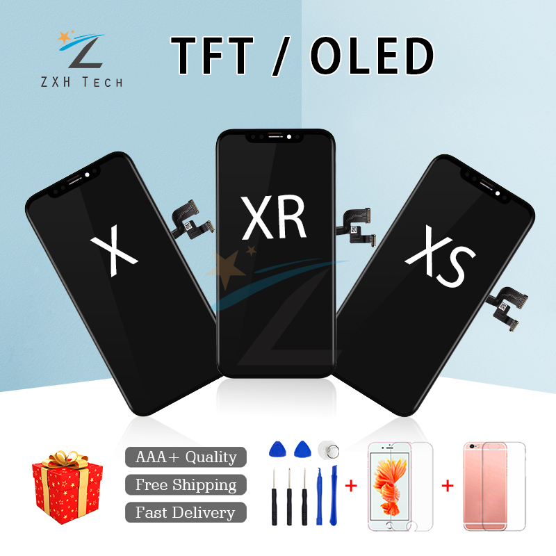 Amoled For iPhone X XR XS LCD Assembly with Frame Replacement TFT OLED Display LCD Digitizer