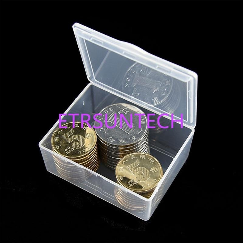 300 pcs/lot petites pièces boîtes en plastique pliables transparentes petites boîtes d'emballage de stockage de bijoux boîte de pièce de monnaie 5.5x4.2x2.3 cm-in Boîtes de rangement et bacs from Maison & Animalerie    3