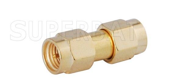 Superbat 5 Pcs SMA RF Adapter SMA Male Plug To SMA Plug Straight Free Shipping Coax Connector
