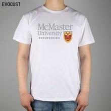 mcmaster university engineering logo T shirt Top Lycra Cotton Men T shirt