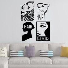 цена на Diy Hair Cut Decorative Sticker Waterproof Home Decor Kids Room Nature Decor Art Mural Sticker Decal