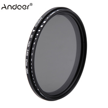Andoer 67 Mm ND Filter Ví Da Cá Mật Độ Trung Tính Có Thể Điều Chỉnh ND2 Để ND400 Biến Lọc Dành Cho Máy Ảnh Canon Nikon DSLR Camera