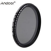 Andoer 67mm ND Filter Fader Neutral Density Adjustable ND2 to ND400 Variable Filter for Canon Nikon DSLR Camera(China)