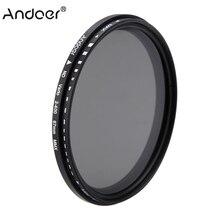 Andoer 67mm ND filtre Fader densité neutre réglable ND2 à ND400 filtre Variable pour appareil photo reflex numérique Canon Nikon