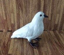 Simulation white dove polyethylene&furs dove model funny gift about 18cmx22cm