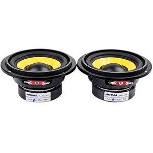 Image 2 - AIYIMA 2Pcs 4 inch Woofer Audio Speaker Portable Mini Stereo Speakers SubWoofer Full Range Car Horn Loudspeaker 4 Ohm /8Ohm 20W