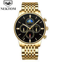 NEKTOM 2019 new Korean students creative sports and leisure quartz watch business men's watch waterproof stainless steel clock
