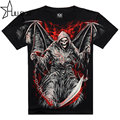 Death angel 3D printed 2017 t shirt men black mens top quality cotton tshirt hip hop mens o-neck short sleeve tops tees SMT114