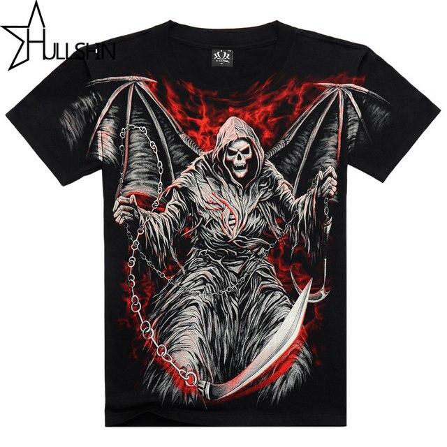 Death angel 3D printed 2017 t shirt men black mens top quality cotton tshirt hip hop mens o-neck short sleeve tops tees SMT114