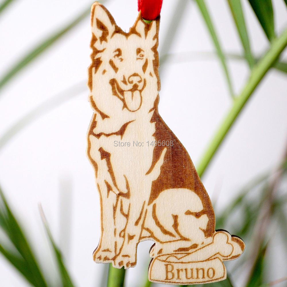 German Shepherd Ornament Personalized Dog Ornament Dog Lover Gift Christmas Holiday Ornament Ornaments Ornaments Christmas Aliexpress