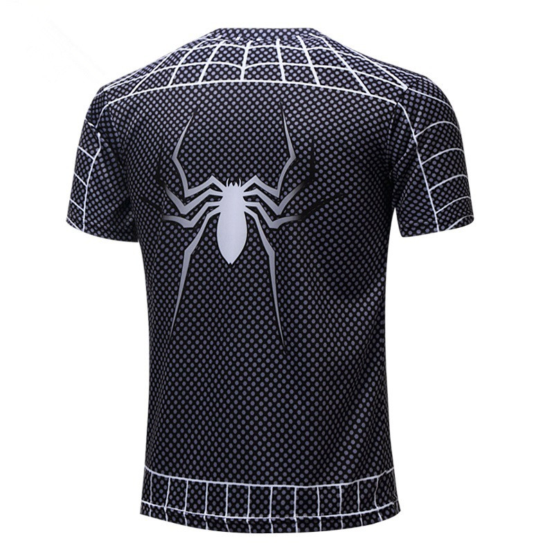 2Father & Son Matching T-shirt Superhero Tops Tees Dad Kids 3D Spiderman