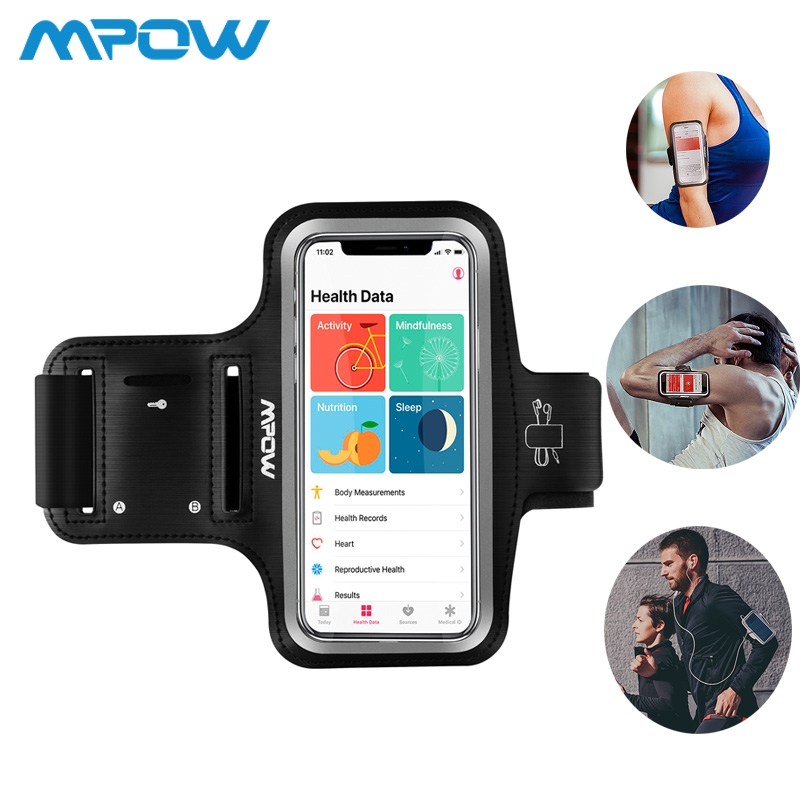 Mpow PA069 Armband Sports Running Waterproof Arm Band Belt Wrist Band for 4.0-5.1inch phones For iPhone X 8/7/6s/6 GalaxyS7/S6