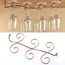 ФОТО 6 wine glass rack stemware hanging under cabinet holder hanger shelf kitchen