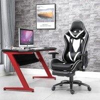 Samincom Эргономичный с высокой спинкой большой размер игровой офисный вращающийся стул игровой гоночный стул с подставкой для ног мягкий подг