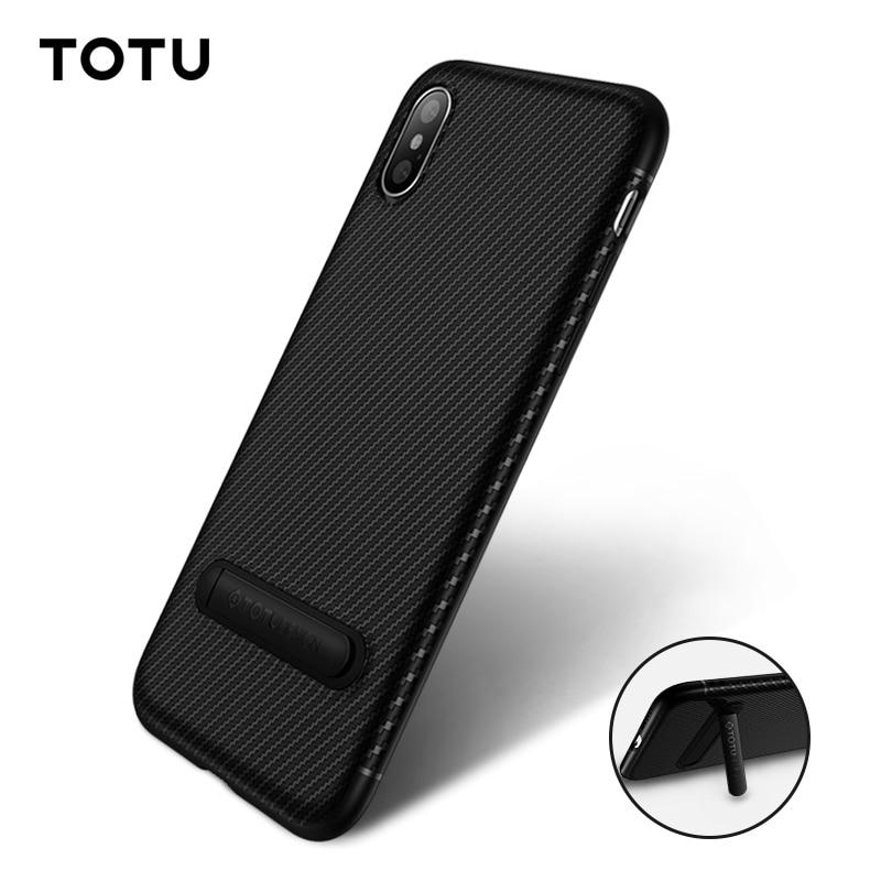 TOTU Carbon Fiber Phone Case For iPhone XS Max XR X S 8 7 6 Plus Luxury Back Cover For iPhone Xsmax 8plus 7plus Coque Fundas iPhone XS