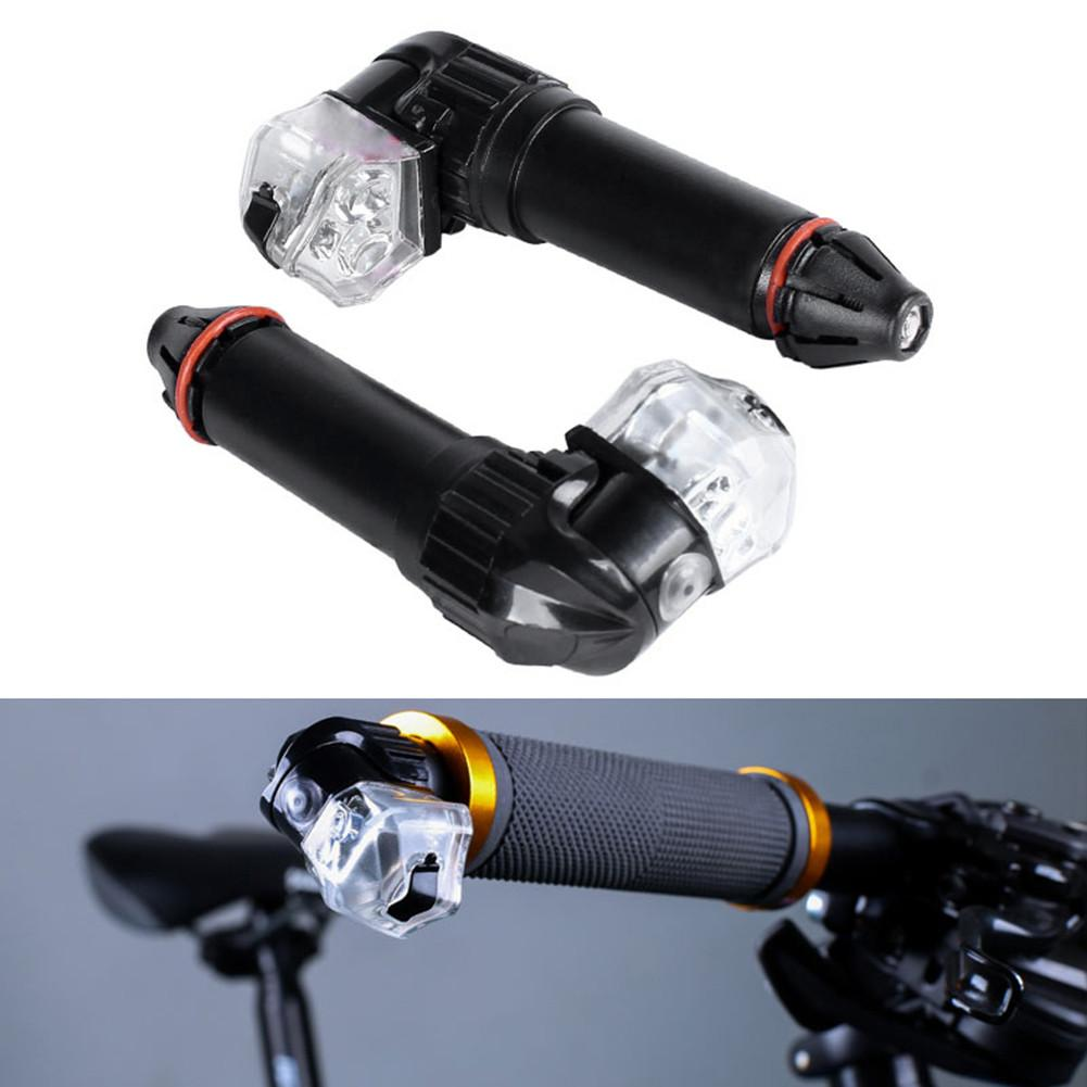 1pair USB Charg Bicycle Bike Cycling Turn Signal LED Handlebar Bar End Plugs Indicator Lights Sports Turn Lights Safety