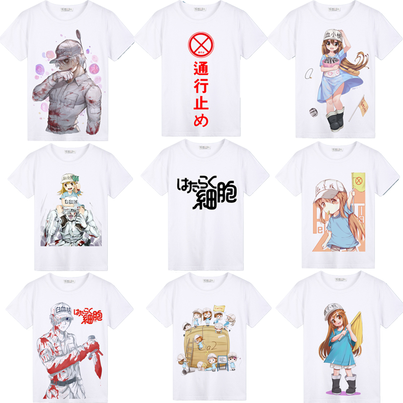 Costumebuy Cells at Work Erythrocite Red Blood Cell White Cell Platelet Cosplay T-shirt T Shirt Short Sleeve Tops Tees Unisex